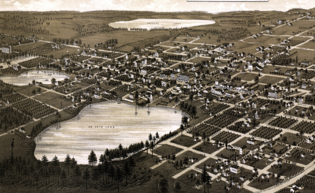 Beautifully Restored Map Of Lake City, Florida In 1885 - Knowol - Map Of Lake City Florida And Surrounding Area