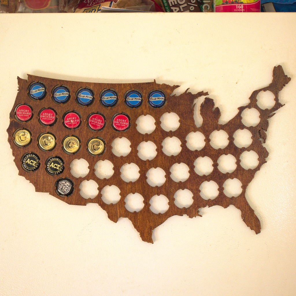 Beer Cap Map: 4 Steps (With Pictures) - Texas Beer Cap Map