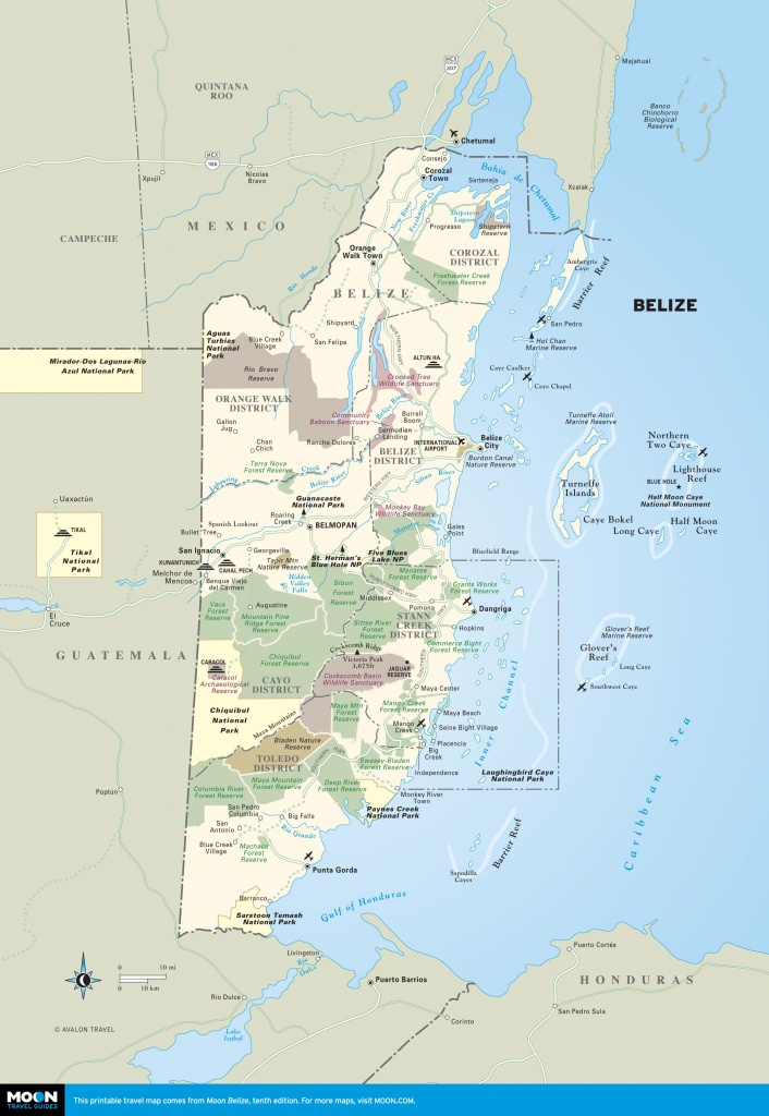 Belize | Getting Ready For Retirement | Map Of Belize, Belize - Printable Map Of Belize