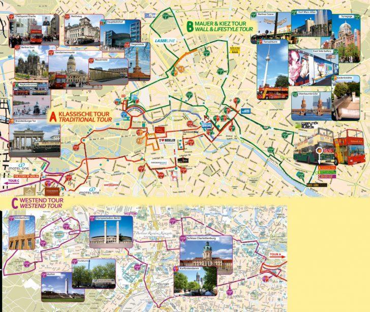 Berlin Tourist Map Printable