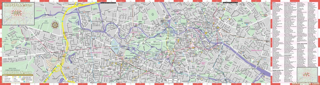 Berlin Maps - Top Tourist Attractions - Free, Printable City Street Map - Free Printable City Street Maps