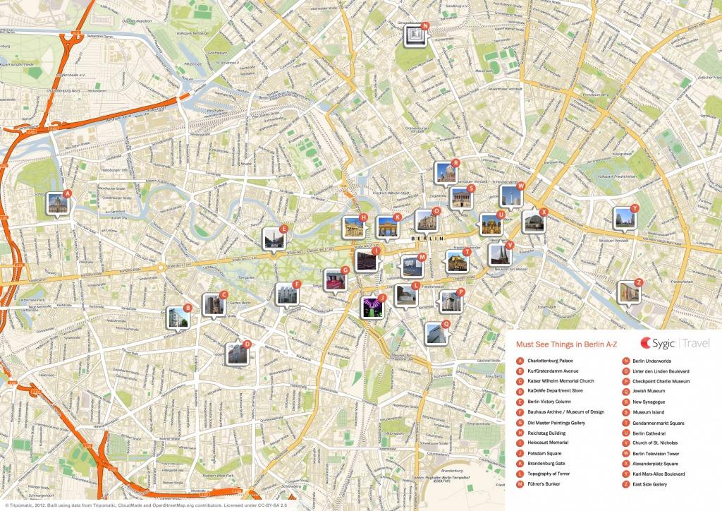 Berlin Printable Tourist Map   Sygic Travel - Printable Map Of Berlin