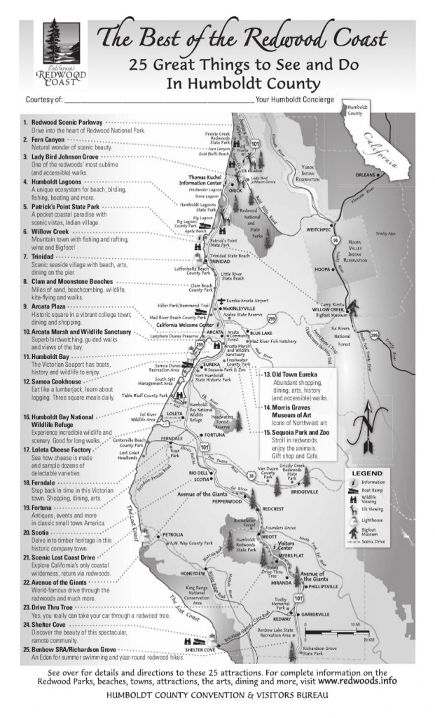 Best Of The Redwood Coast Map In 2019 | Wanderlust | Northern - Camping Northern California Coast Map