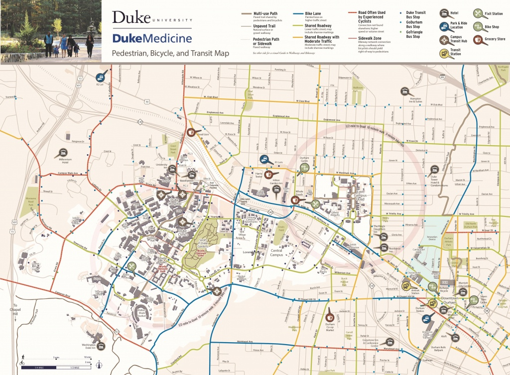 Bicycling | Parking & Transportation | Duke - Duke University Campus Map Printable