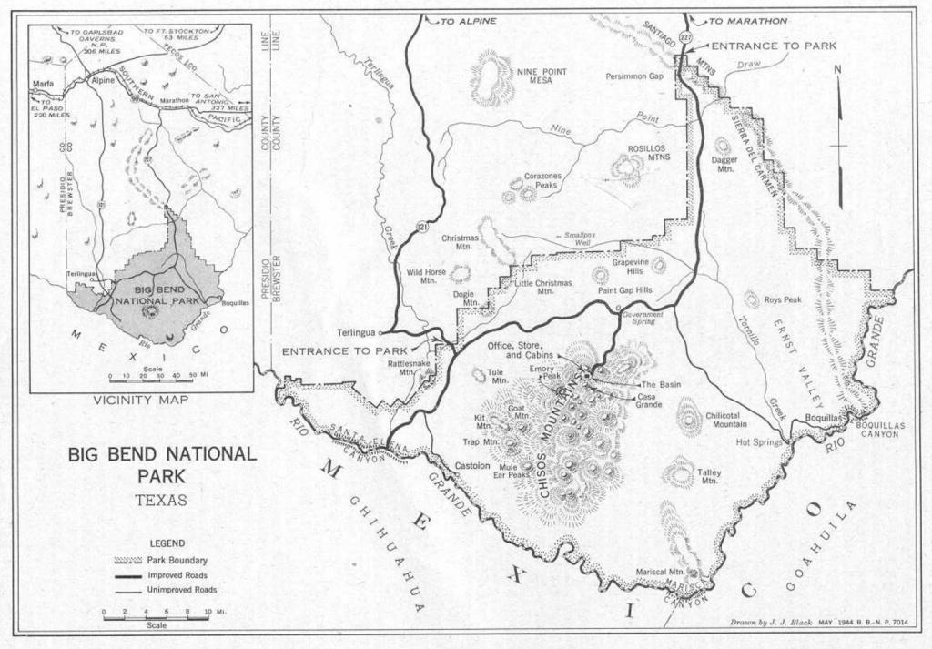 Big Bend Maps | Npmaps - Just Free Maps, Period. - Map Of Big Bend Area Texas