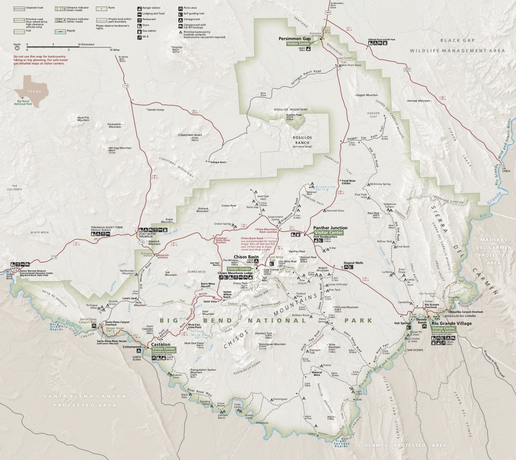 Big Bend Maps   Npmaps - Just Free Maps, Period. - Printable Map Of National Parks