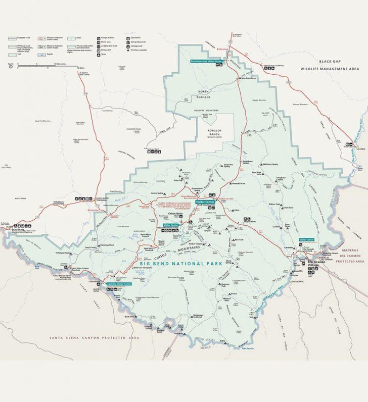 Big Bend Texas Map