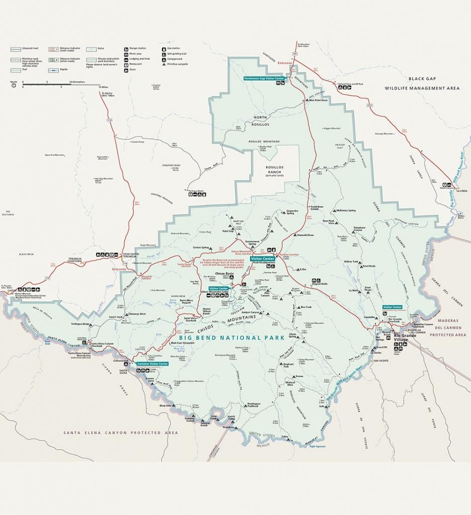 Big Bend National Park - Spirit Of Usa - Big Bend Texas Map