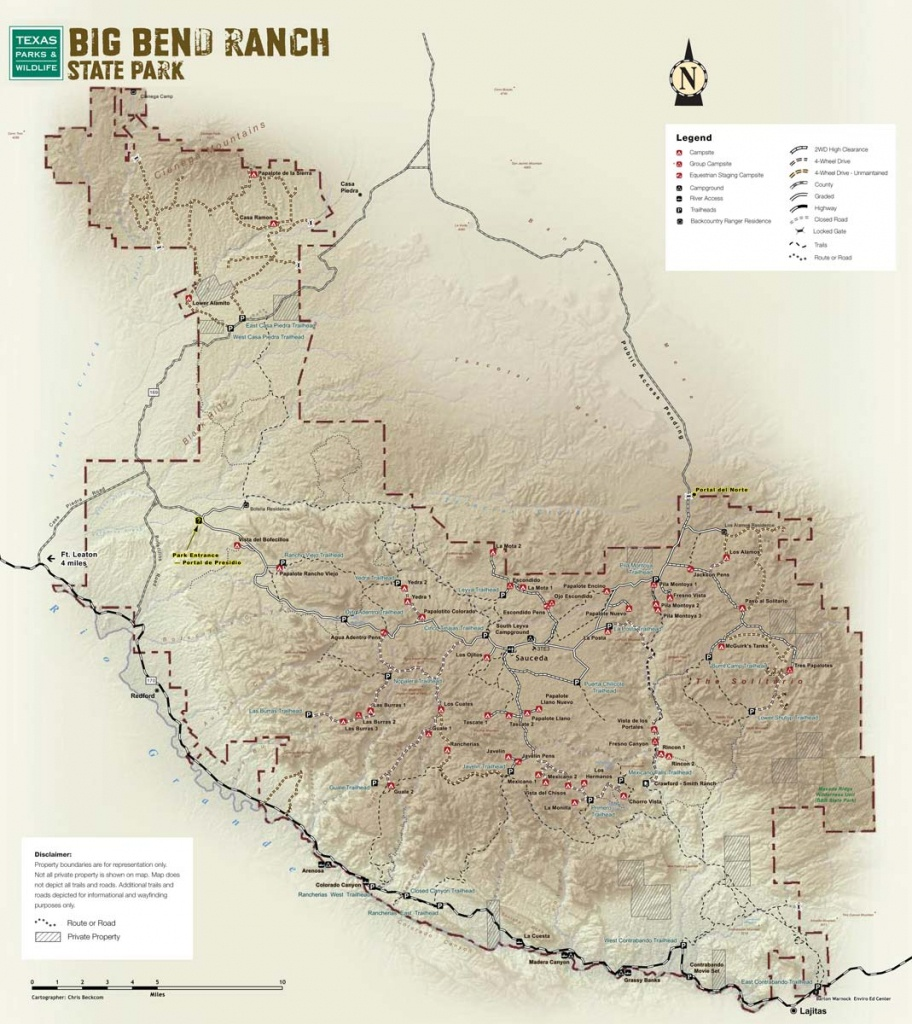 Big Bend Ranch State Park — Texas Parks & Wildlife Department - Texas State Parks Map