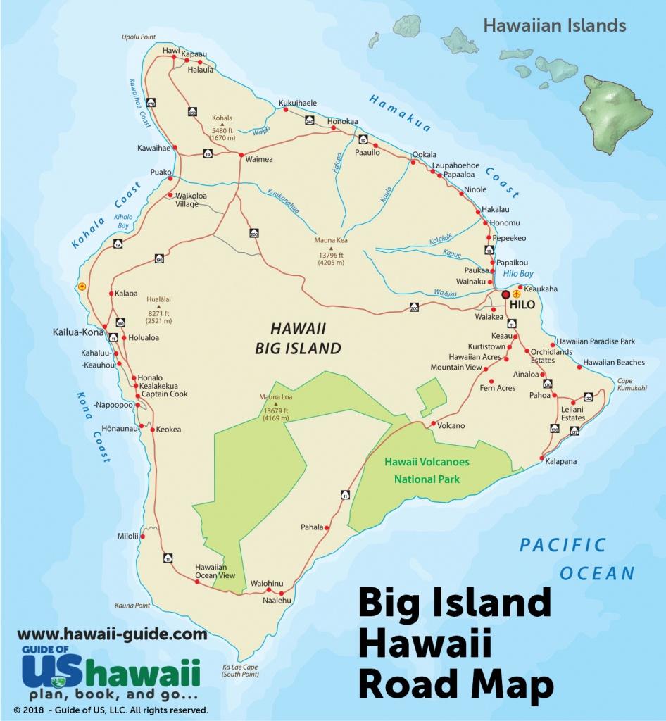 Big Island Of Hawaii Maps - Map Of The Big Island Hawaii Printable