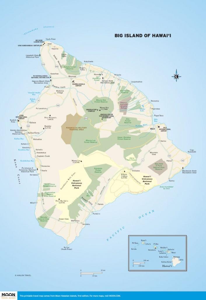 Big Island Of Hawai'i | Scenic Travel | Big Island, Hawaii Volcanoes - Printable Map Of Kauai Hawaii