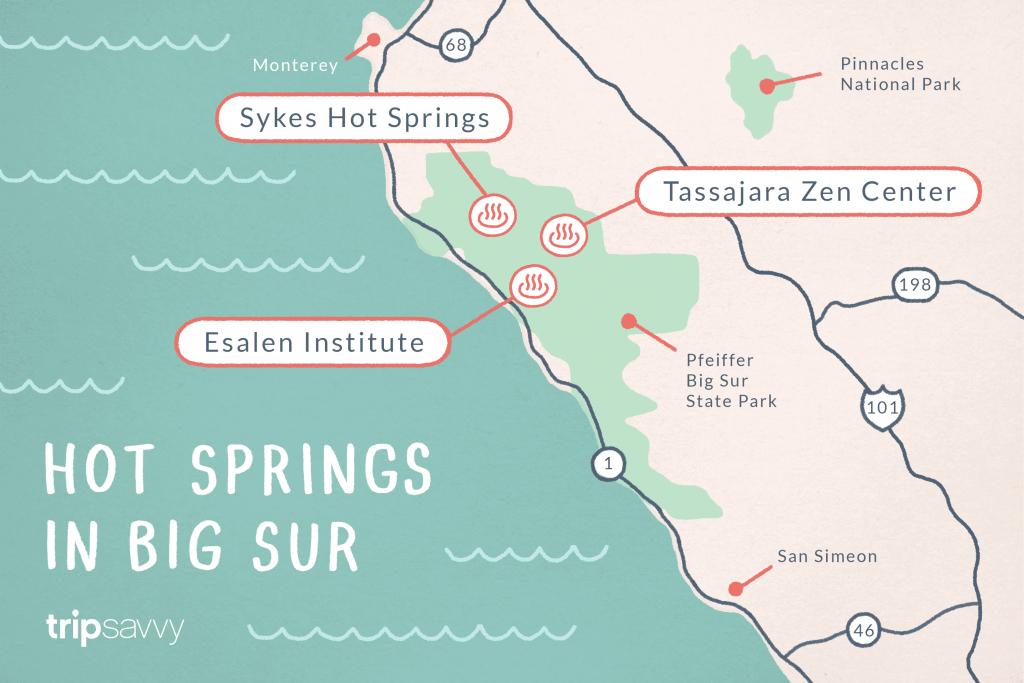 Big Sur Hot Springs - Top Natural Hot Tubs On The Coast - Hot Springs California Map