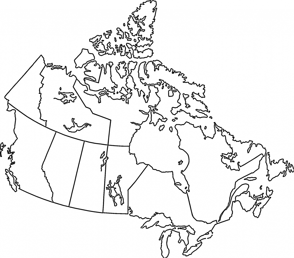 Bigmapofcanada Free Print Map Canada Black And White 16 - Map Of Canada Black And White Printable