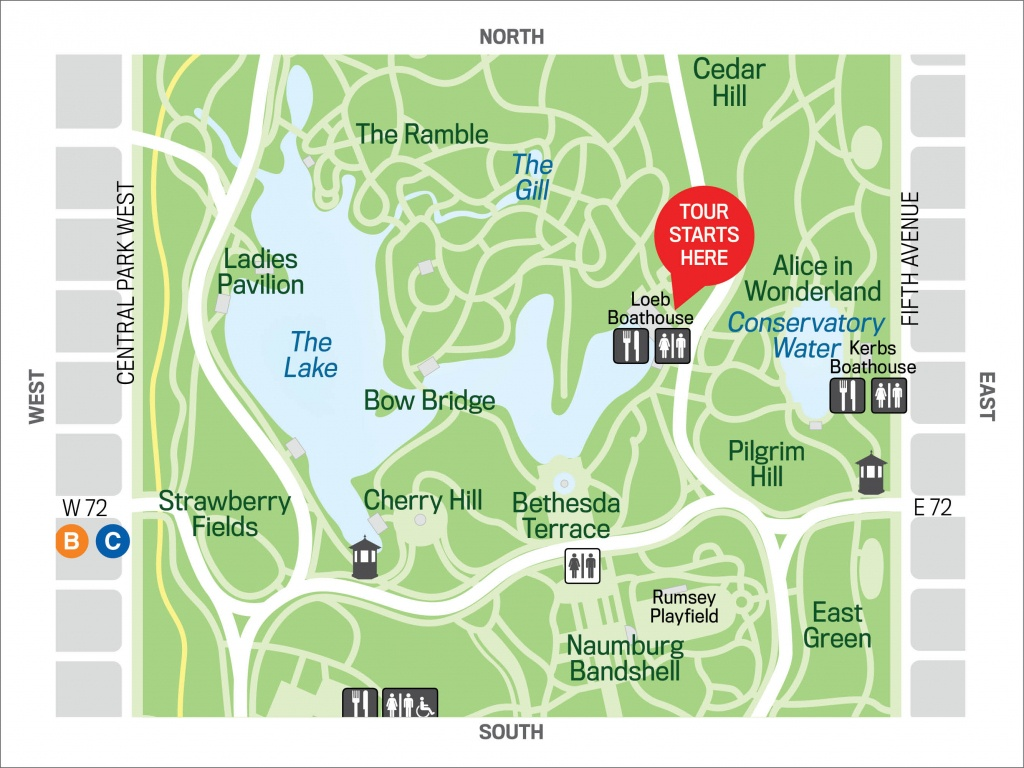 Birding Basics: The Ramble 2019-3-20 - The Official Website Of - Printable Map Of Central Park Nyc