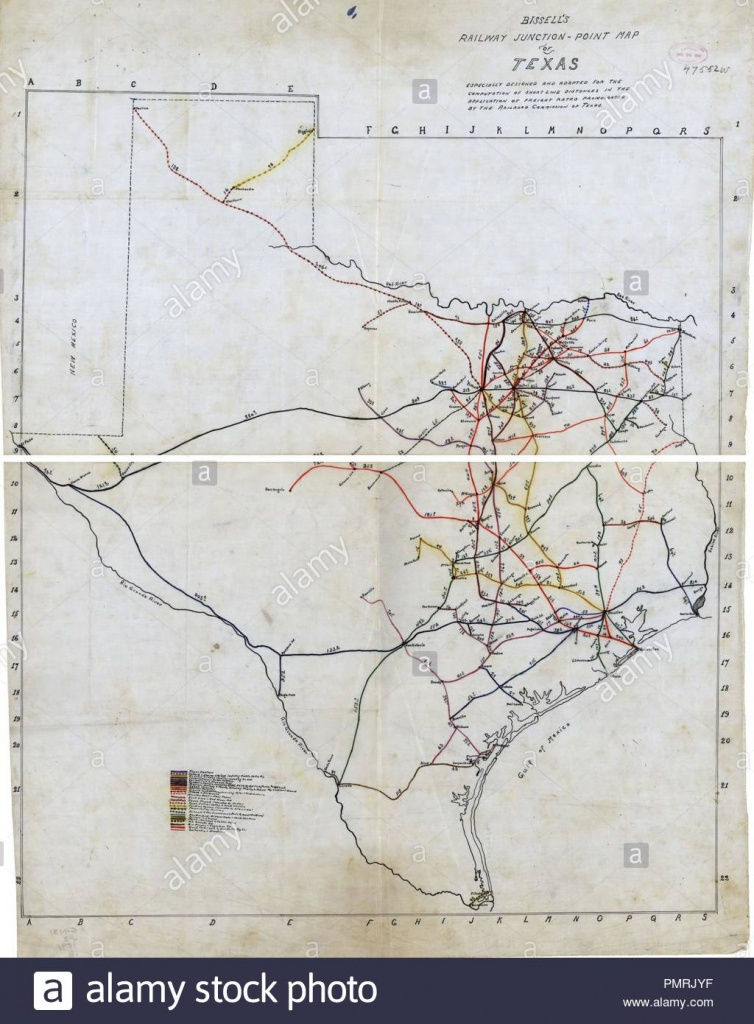 Bissell's Railway Junction Point Map Of Texas Stock Photo: 219337315 - Junction Texas Map