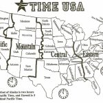 Black And White Us Time Zone Map   Google Search | Social Studies   Us Timezone Map Printable