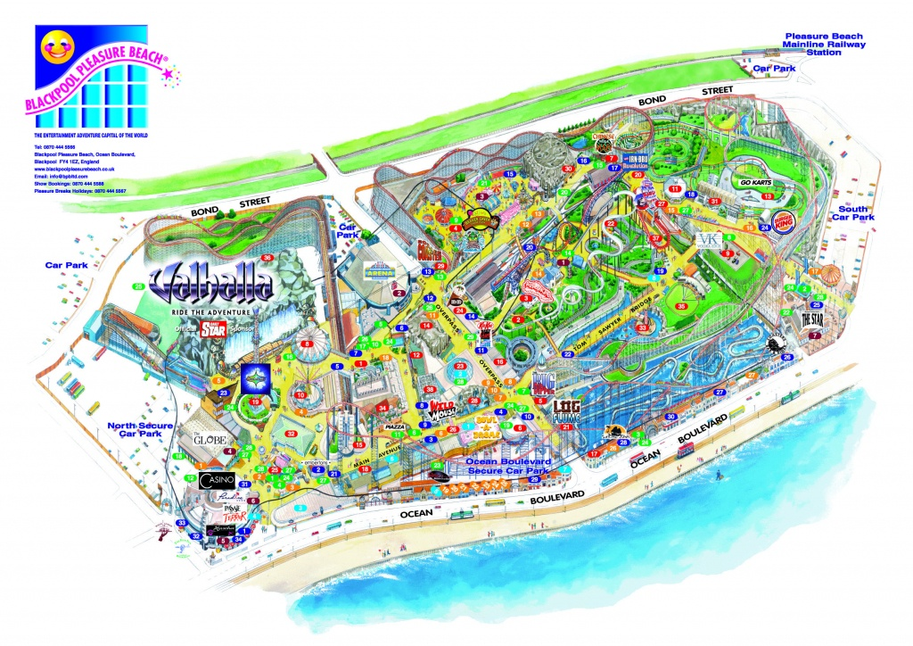 Blackpool Pleasure Beach 3D Map From Fitzpatrick Woolmer | 3D Maps - Blackpool Tourist Map Printable