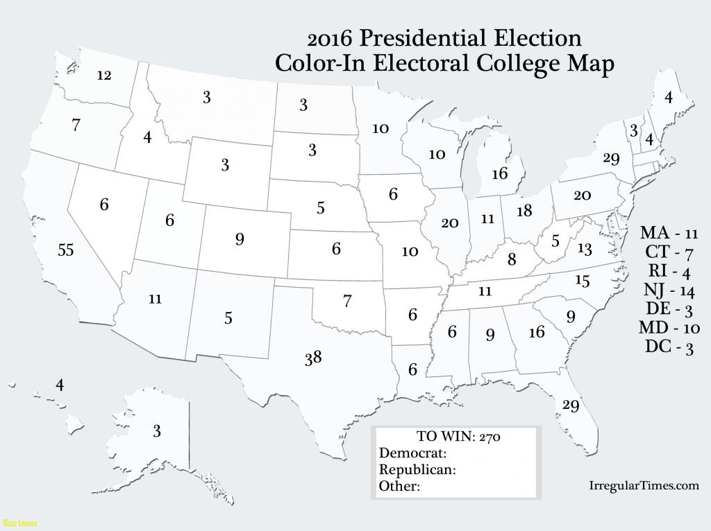 Blank Electoral Map 2016 | Sksinternational - 2016 Printable Electoral Map