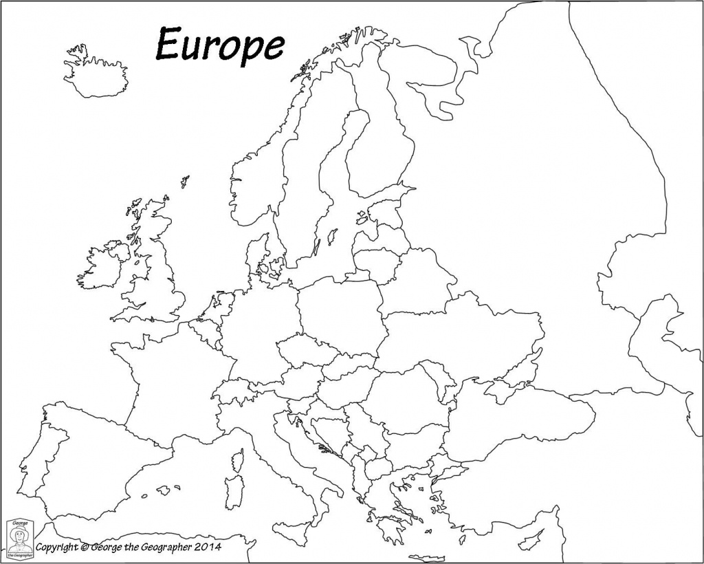 Blank Europe Political Map - Maplewebandpc - Europe Political Map Outline Printable