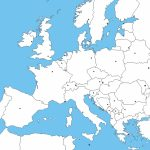 Blank Europe Political Map | Sitedesignco   Blank Political Map Of Europe Printable