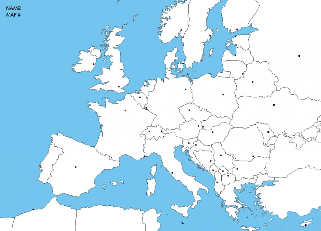 Blank Europe Political Map | Sitedesignco - Blank Political Map Of Europe Printable
