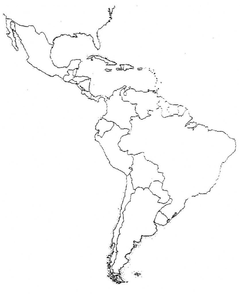 Blank Latin America Map Quiz | Social Studies | Latin America Map - Latin America Map Quiz Printable