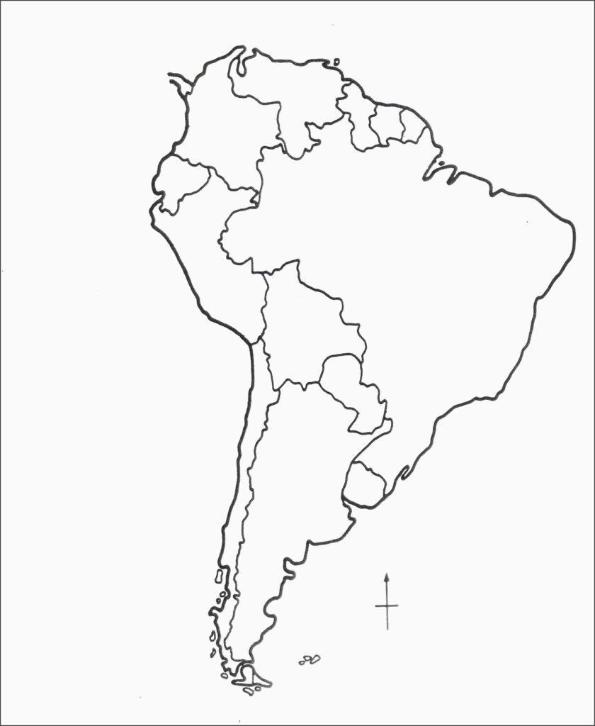 Blank Latin America Map Quiz Social Studies Pinterest Throughout - Printable Blank Map Of South America