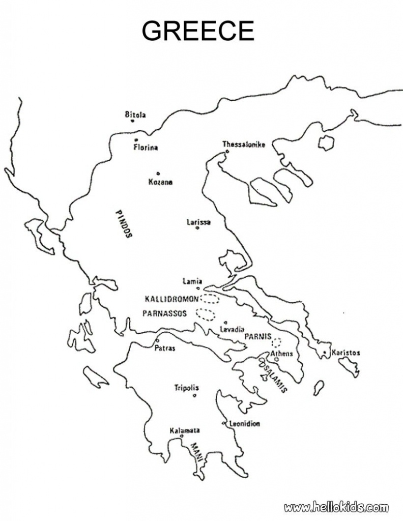 Blank Map Of Ancient Greece   Xorforums - Outline Map Of Ancient Greece Printable