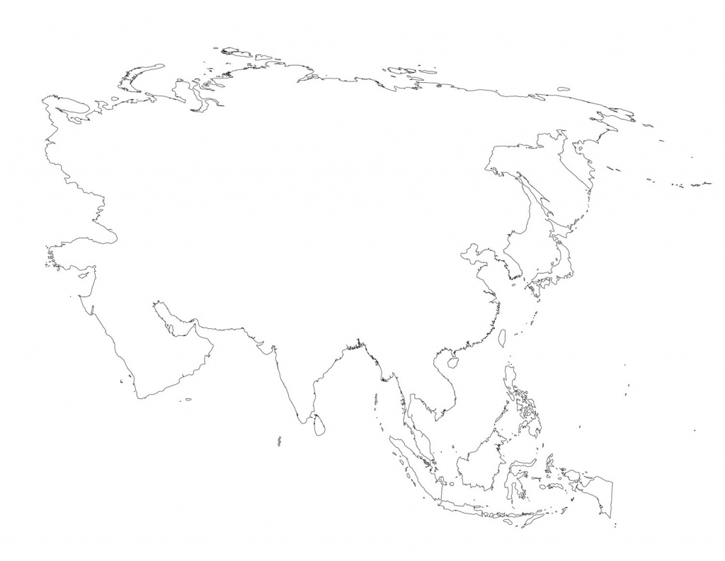 Blank Map Of Asia Outline Printable 1 - World Wide Maps - Blank Map Of Asia Printable
