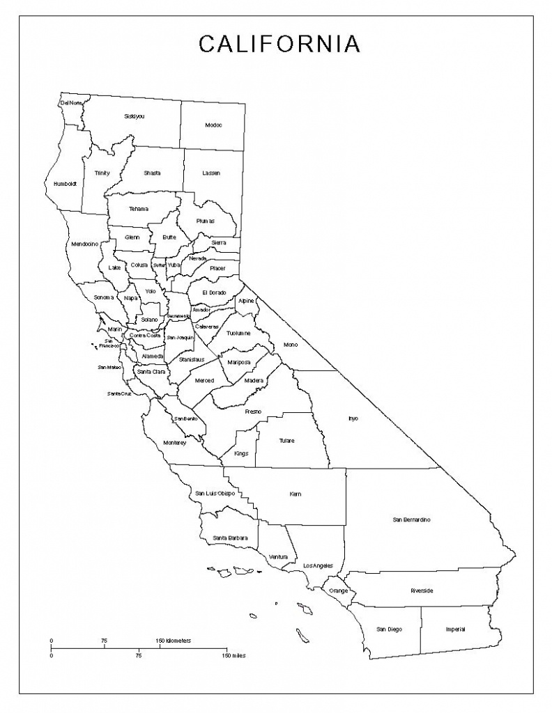 Blank Map Of California Counties - Google Search | California - Blank Map Of California Printable