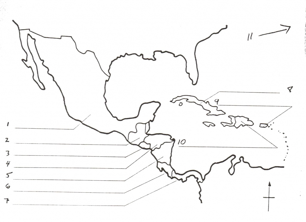 Blank Map Of Central America And Travel Information | Download Free - Printable Map Of Central America