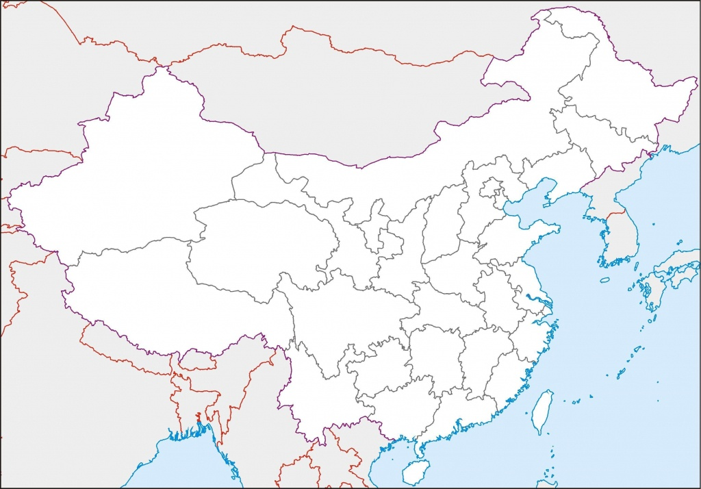 Blank Map Of China Printable And Travel Information | Download Free - Printable Map Of China For Kids