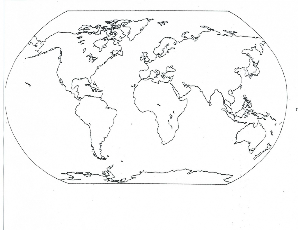 Blank Map Of Continents | Compressportnederland - Continents Outline Map Printable