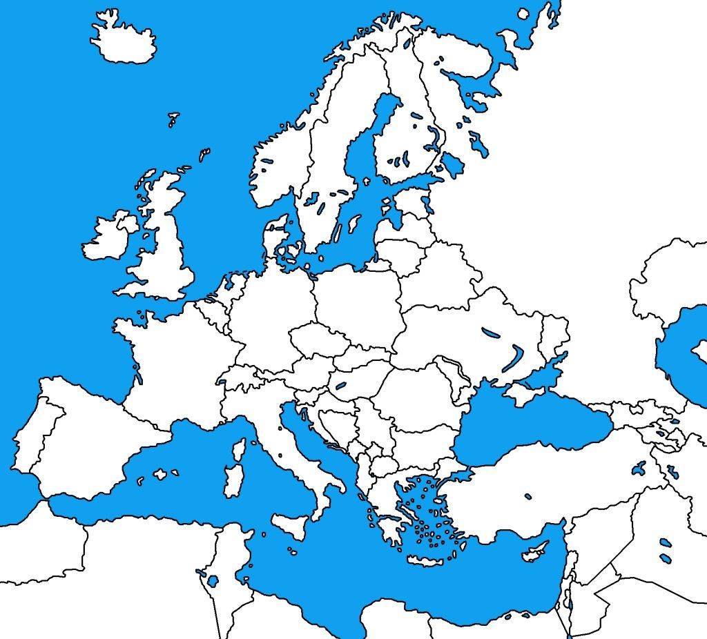 Blank Map Of Europe 1914 | : Blank Map Of Europe - Blank Map Of Europe 1914 Printable