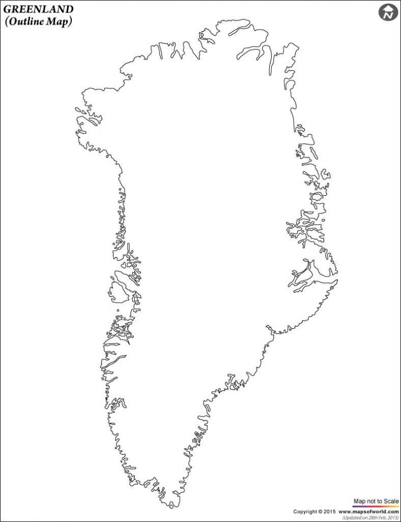 Blank Map Of Greenland | Greenland Outline Map - Printable Map Of Greenland