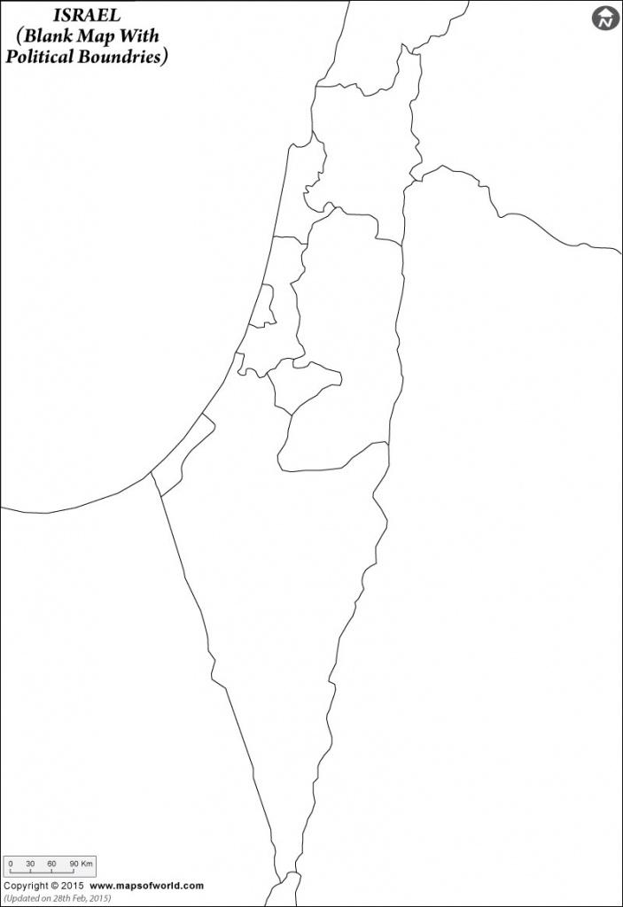 Blank Map Israel Printable