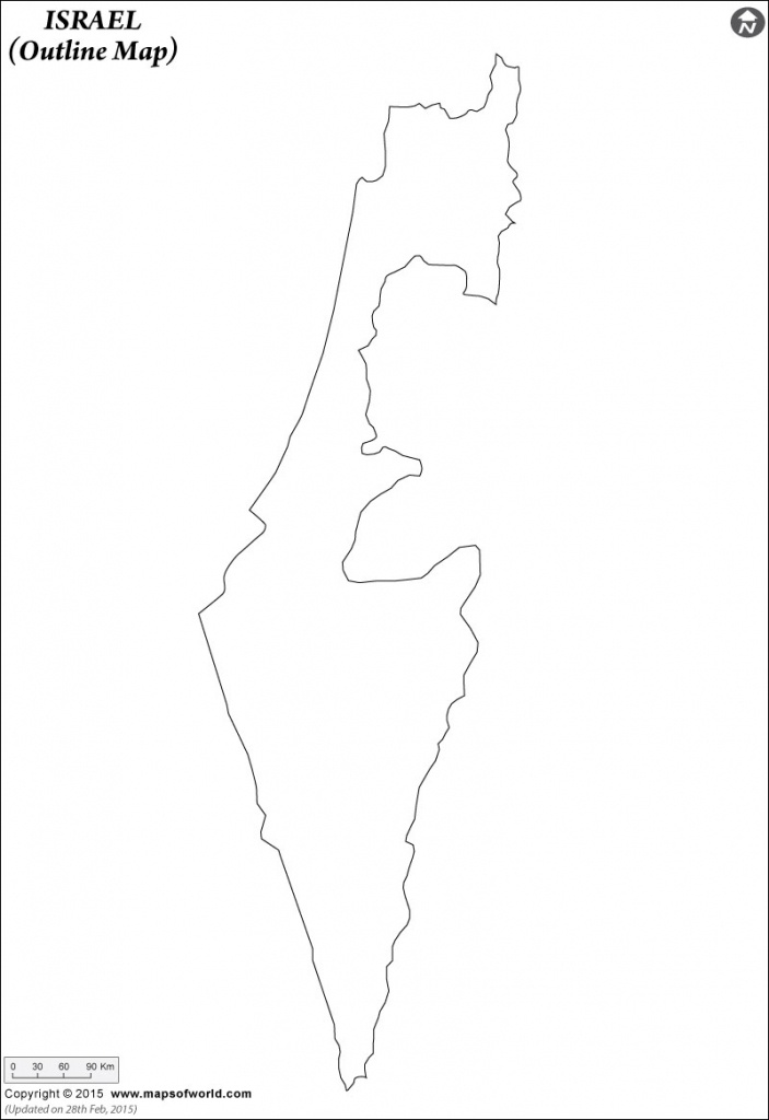 Blank Map Of Israel | Israel Outline Map - Israel Outline Map Printable