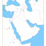 Blank Map Of Middle East | Cc Geography | Geography, Middle East Map   Printable Blank Map Of Middle East