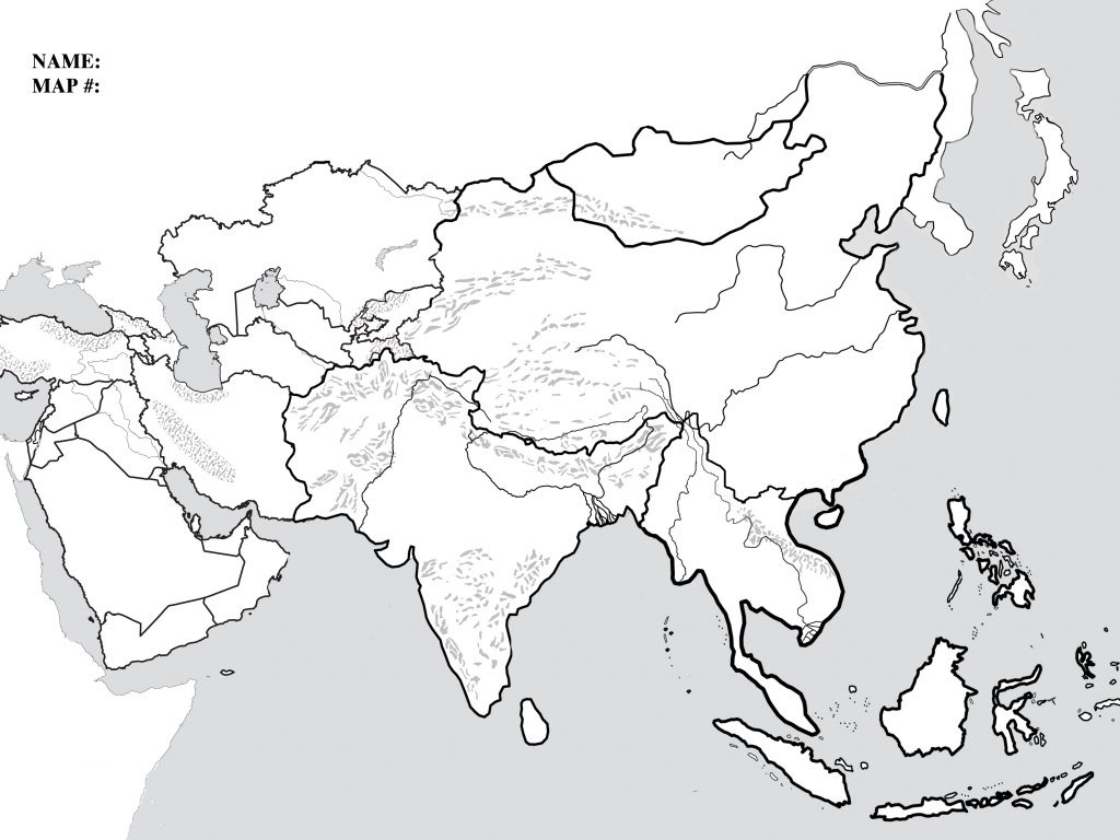 Blank Map Of Monsoon Asia And Travel Information | Download Free - Asia Outline Map Printable