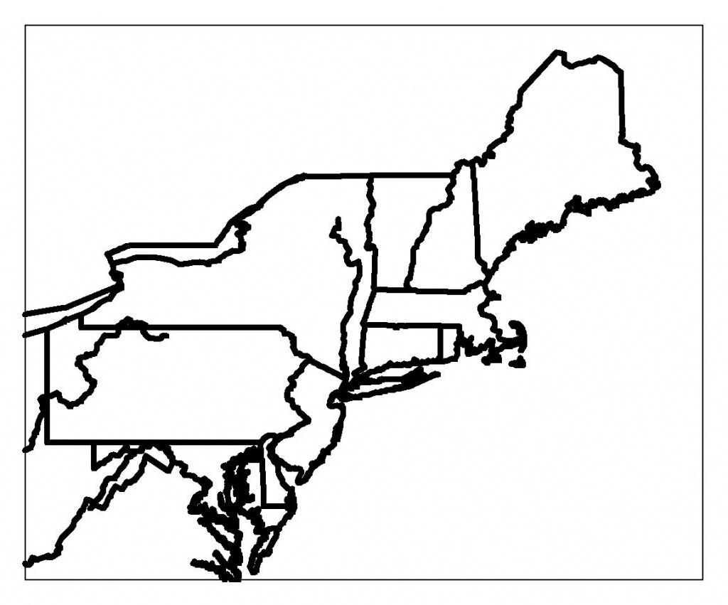 Blank Map Of Northeast Region States | Maps | Printable Maps, Map - Printable Map Of Northeast Us