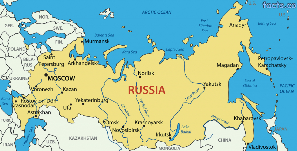 Blank Map Of Russia And The Republics And Travel Information - Russia Map Outline Printable