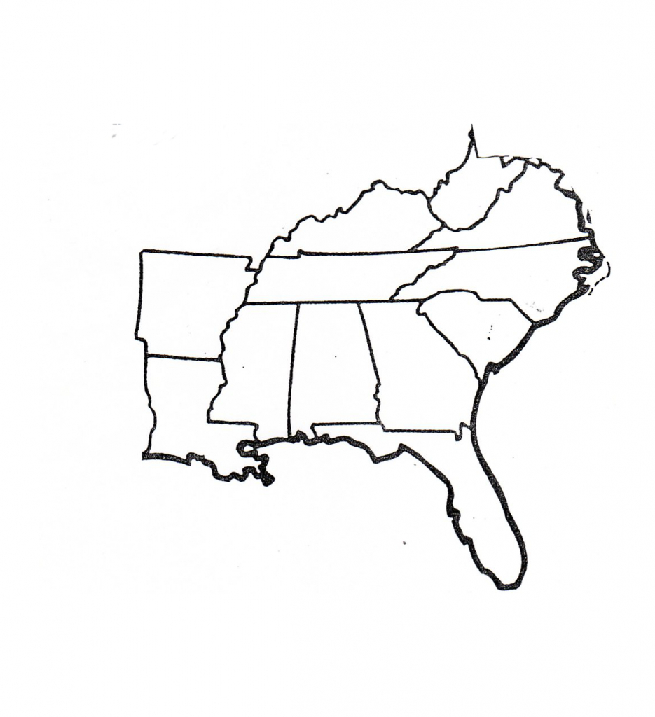 Blank Map Of Southeast Region Within Us   Map   Map, Geography Map - Southeast States Map Printable