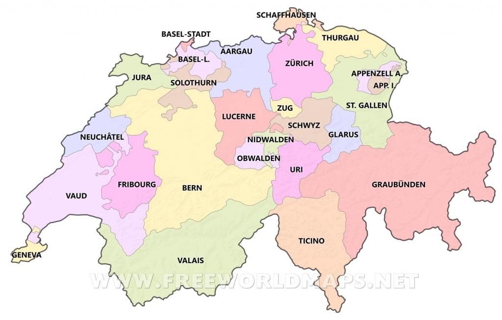 Blank Map Of Switzerland - Maplewebandpc - Printable Map Of Switzerland