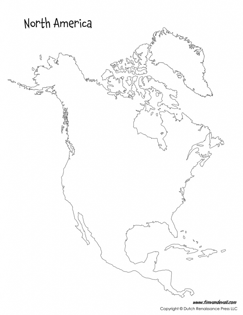 Blank-North-America-Map - Tim's Printables - North America Map Printable