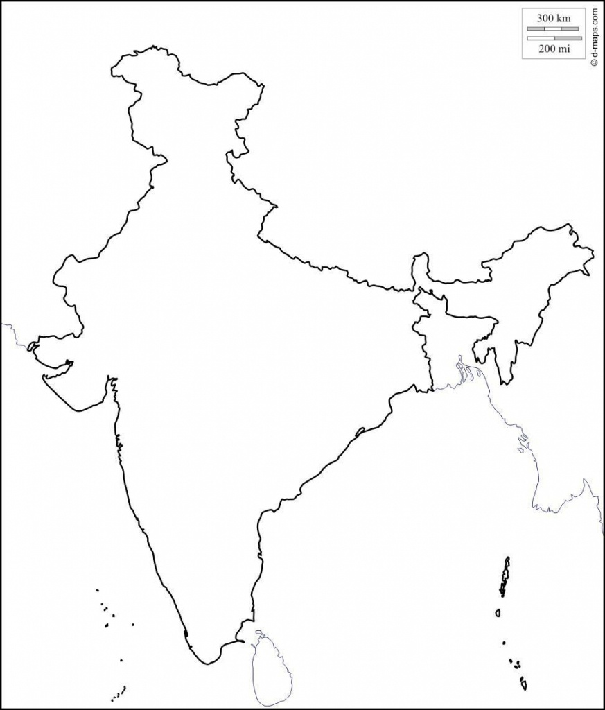 Blank Physical Map Of India   Dehazelmuis - Physical Map Of India Printable