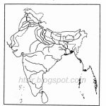 Blank River Map Of India Icse Geography   India River Map Outline Printable