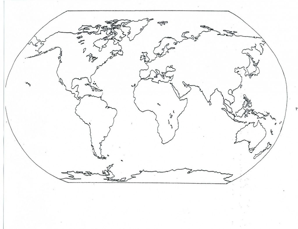 Blank Seven Continents Map   Mr.guerrieros Blog: Blank And Filled-In - World Map Oceans And Continents Printable