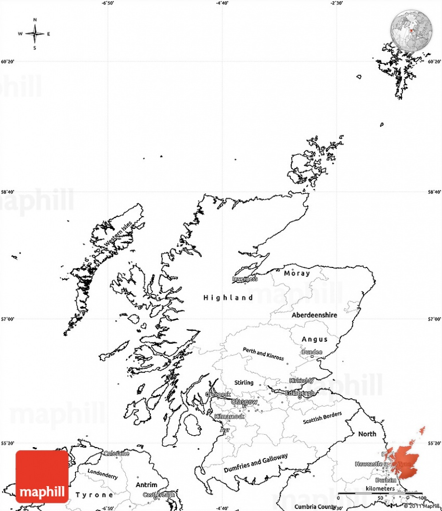 Blank Simple Map Of Scotland - Blank Map Of Scotland Printable