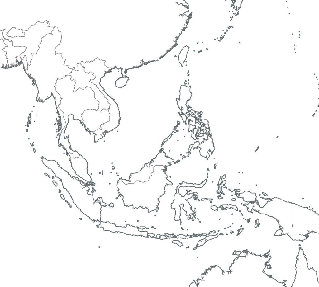 Blank Southeast Asia Map | Sitedesignco - Printable Blank Map Of Southeast Asia