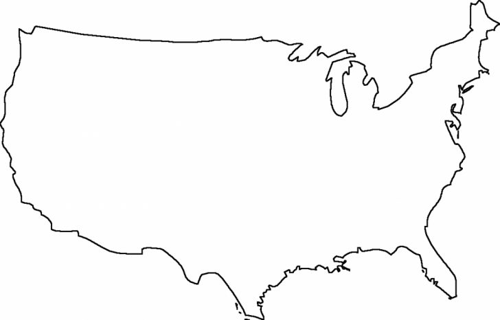 Printable Usa Map Outline